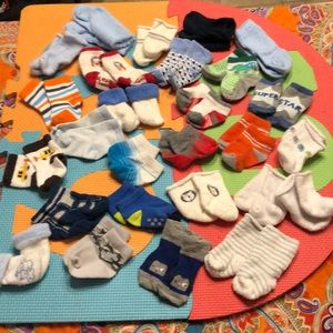 30 pair of baby boy socks